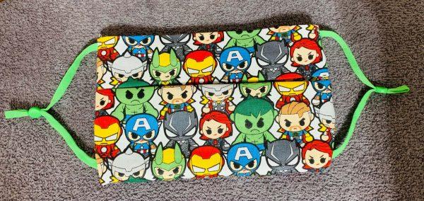 Mini Avengers face mask