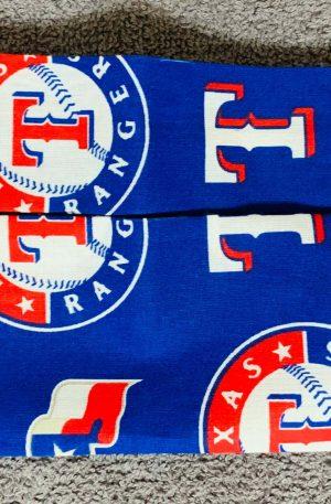 Go Texas Rangers face mask